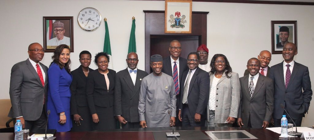 NIGERIA's VICE PRESIDENT MEETS SENIOR FELLOWS OF NLI