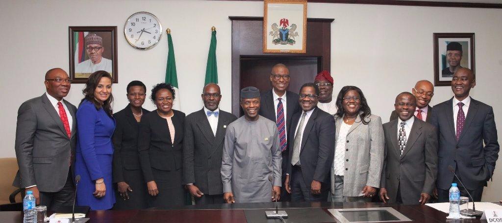 NIGERIA's VICE PRESIDENT MEETS SENIOR FELLOWS OF NLI
